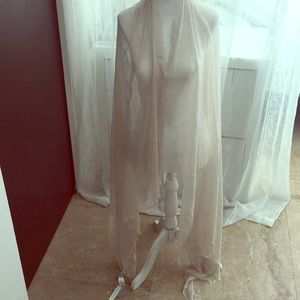 Tan silk & modal large wrap / scarf